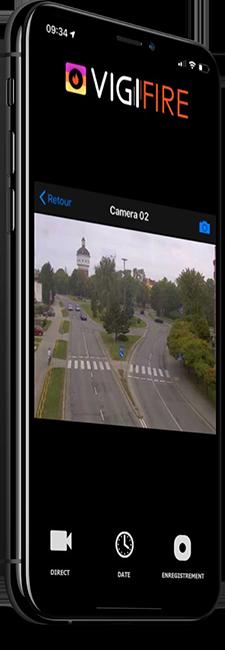 Application smartphone départ de feu